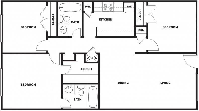 How Big Is 1100 Square Feet 1100 Sq Ft Home Plans Home